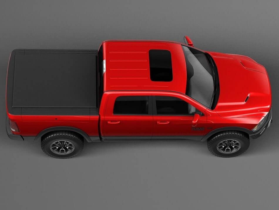 Dodge Ram Rebel 3D Model Preview 2