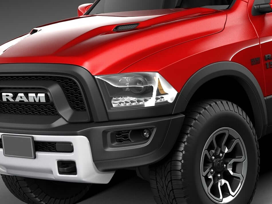 Dodge Ram Rebel 3D Model Preview 7