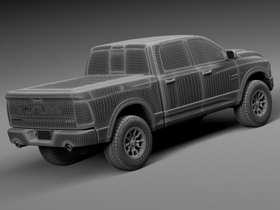 Dodge Ram Rebel 3D Model Preview 9
