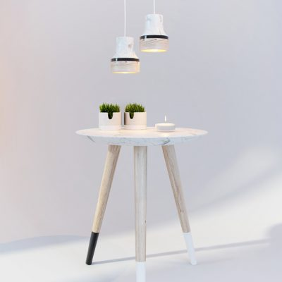 Dodo Table with Lamp & Decor 3D Model