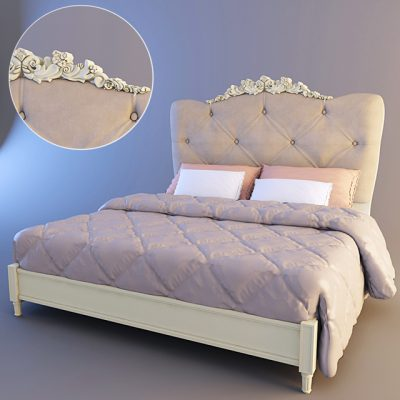 Dolce Rosa Bed 3D Model
