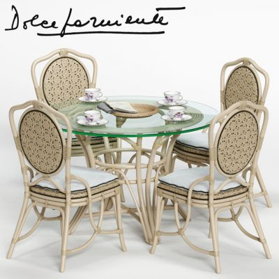 Dolcefarniente Daisy and Irene Table & Chair 3D Model