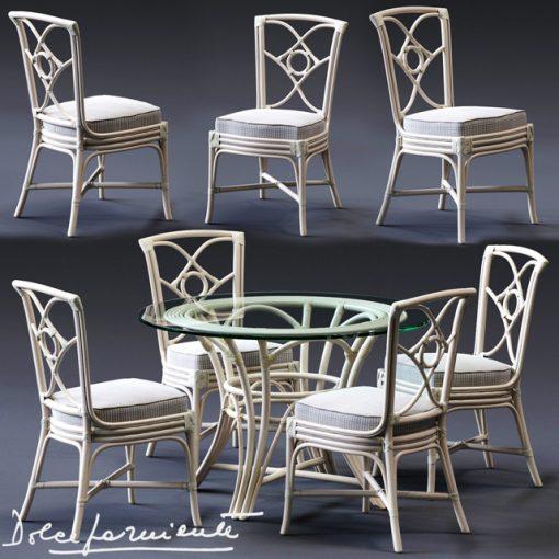 Dolcefarniente Oortensia & Irene Table & Chair 3D Model