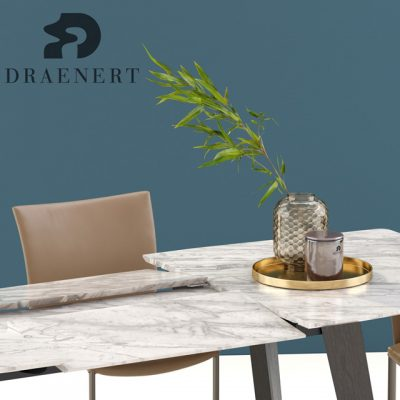 Draenert Nobile Swing and Fontana Table & Chair 3D Model 2