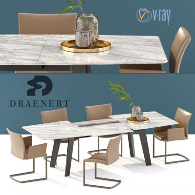 Draenert Nobile Swing and Fontana Table & Chair 3D Model