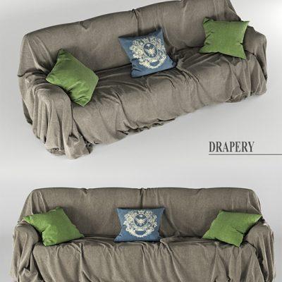 Drapery Sofa 3D Model