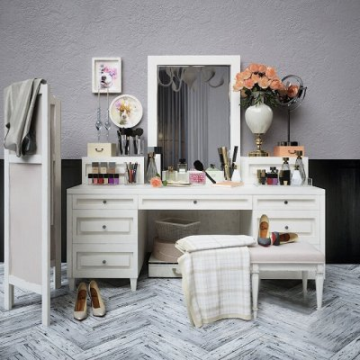 Dressing Table 2 3D model-CGSouq