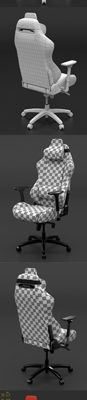 DxSeat P01 Chair 3D Model 3