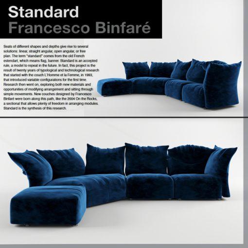 Edra Standart Sofa 3D Model
