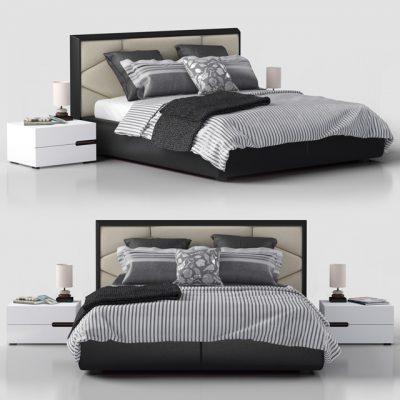 Edward Cattelan Italia Bed 3D Model