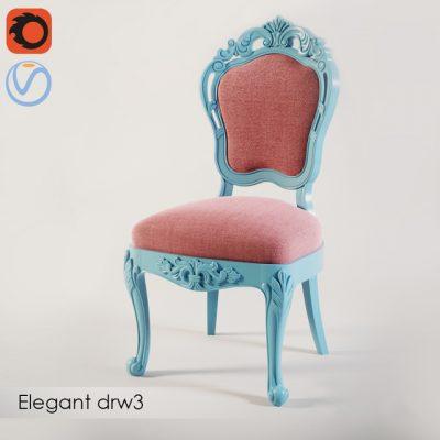 Elegant DRW3 Chair 3D Model
