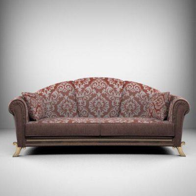 Elegant Soft Sofa 3D Model