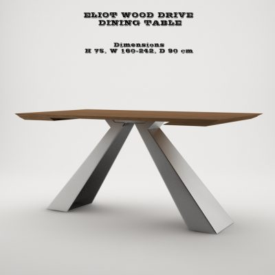 Eliot Wood Drive Dining Table 3D Model