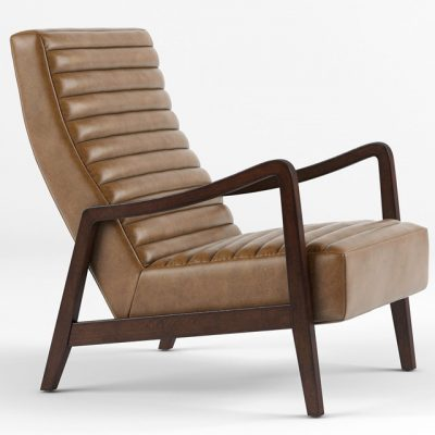 Elkan Modern Classic Armchair 3D Model