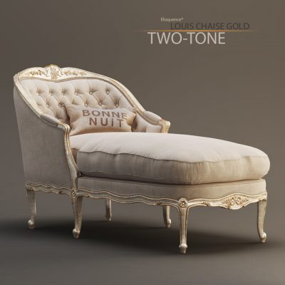 Eloquence Louis Chaise in GoldTaupe Two-Tone 3D Model