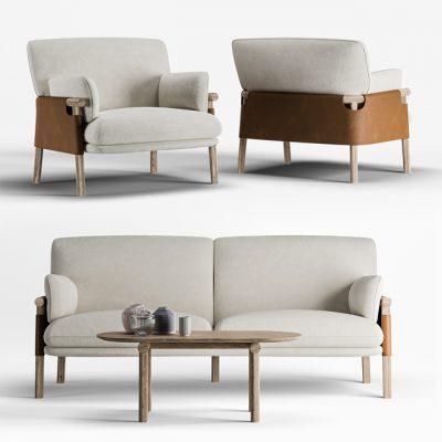 Erik Jorgensen Savannah Sofa Set 3D Model