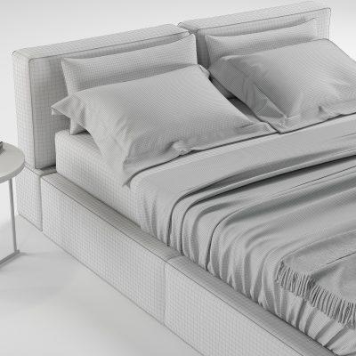 Estel Caresse Bed 3D Model