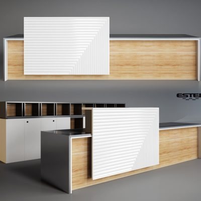 Estel – Loop Reception Desk 3D Model