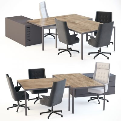 Estel Office Set 3D Model