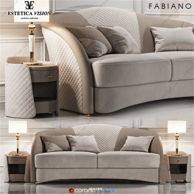 Estetica Fabiano Sofa 3D Model