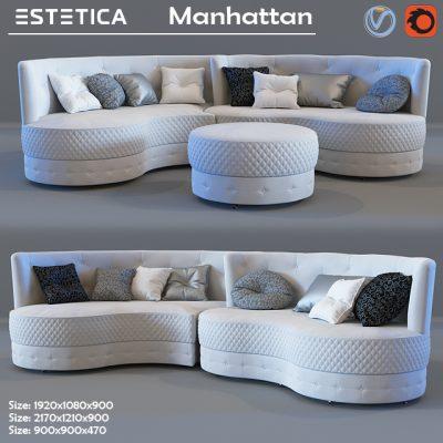 Estetica Manhattan Sofa 3D Model