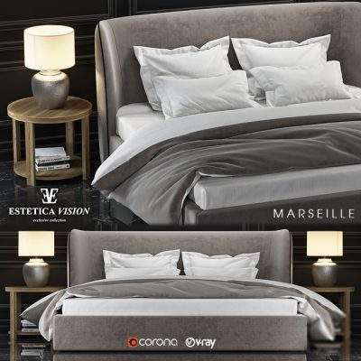 Estetica Vision Marseille Bed 3D Model