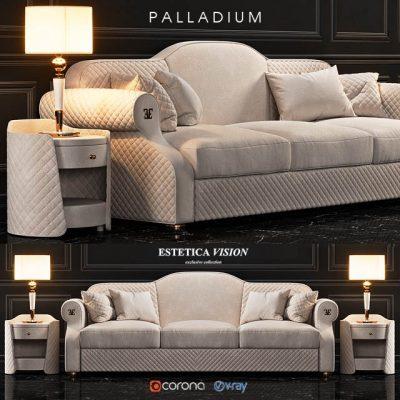 Estetica Vision Palladium Sofa 3D Model