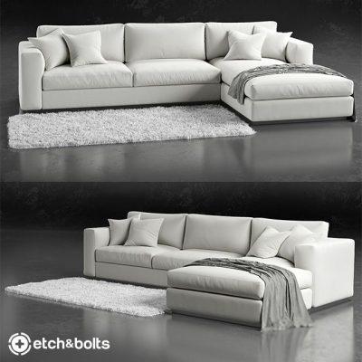 Etch&Bolts Eudora L-Shaped Sofa 3D Model