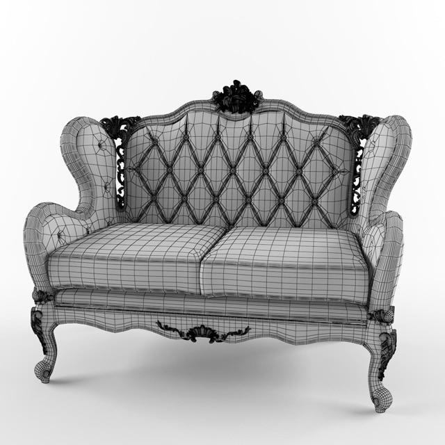 Fanteri Sofa 3D Model 2