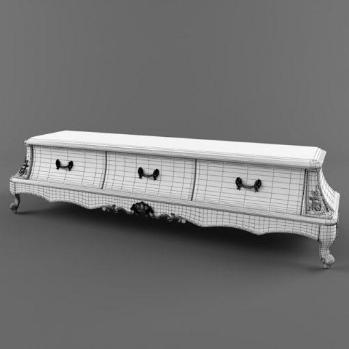 Fanteri TV Stand-02 3D Model 2