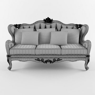 Fanteri Triple Sofa 3D Model