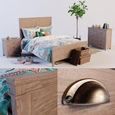 Farmhouse Comfort Bedroom Set 3D Model