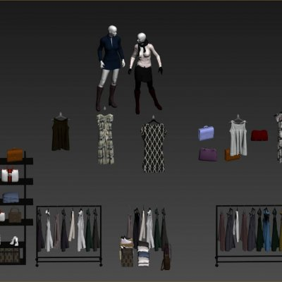 Fashion Shop 02 3D models
