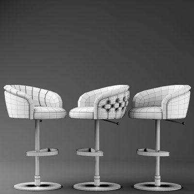Fendi Bar Chair 3D Model