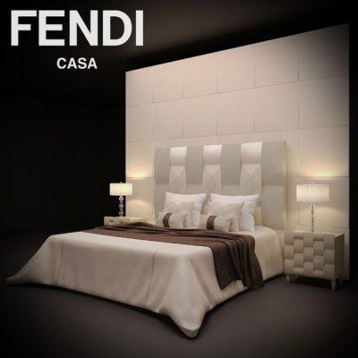 Fendi Casa Bed 3D Model