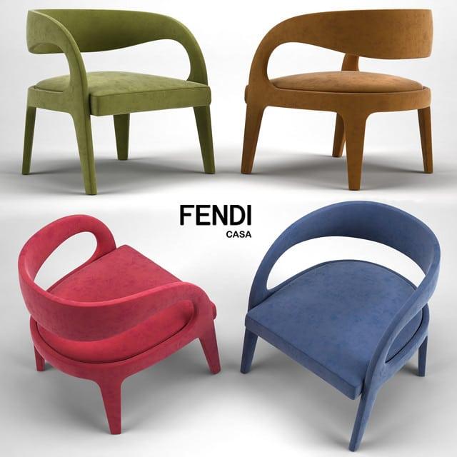 Marvelous Fendi Casa Berenice Armchair 3D Model Alphanode Cool Chair Designs And Ideas Alphanodeonline