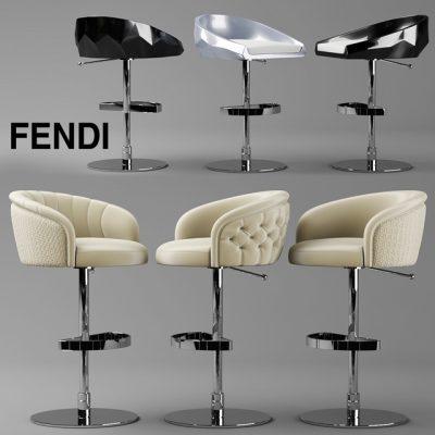 Fendi Casa Bibendum & Cristallino Stool 3D Model