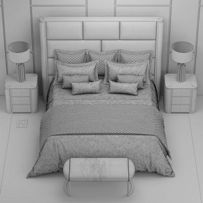 Fendi Casa Montgomery Bed 3D Model