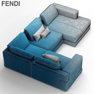 Fendi Casa Sloane Sofa 3D Model