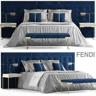 Fendi Pincio Bed 3D Model