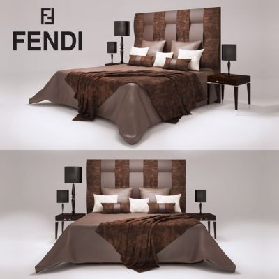 Fendi casa Astoria Bed 3D Model