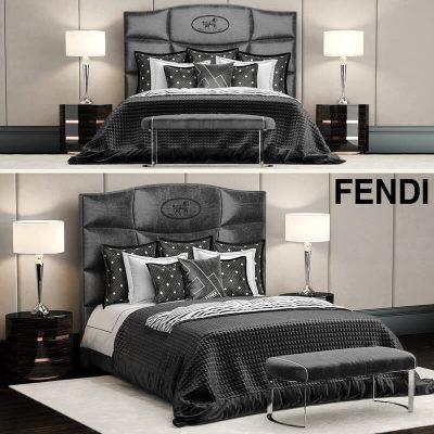 Fendi luxury bed 3D model (3)