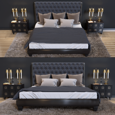 Ferre Home Bed 3D Model
