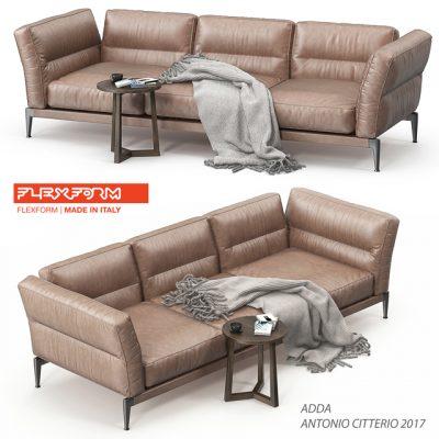 Flexform Adda Sofa Set 3D Model