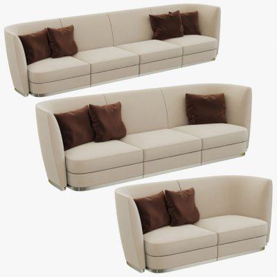 Flexform Altea Divano Sofa Set 3D Model