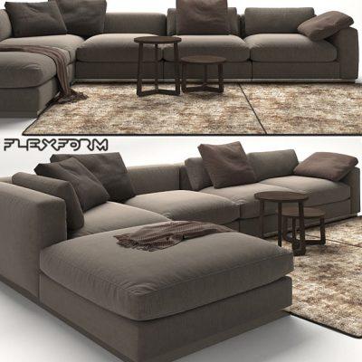 Flexform Beauty Corner Sofa 3D Model