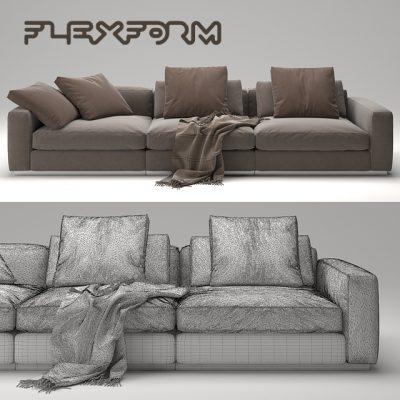 Flexform Beauty Sofa 3D Model