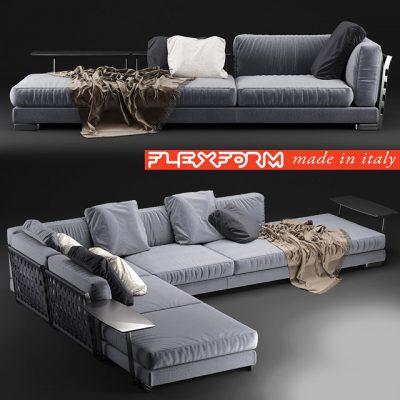 Flexform Cestone Sofa Set-09 3D Model