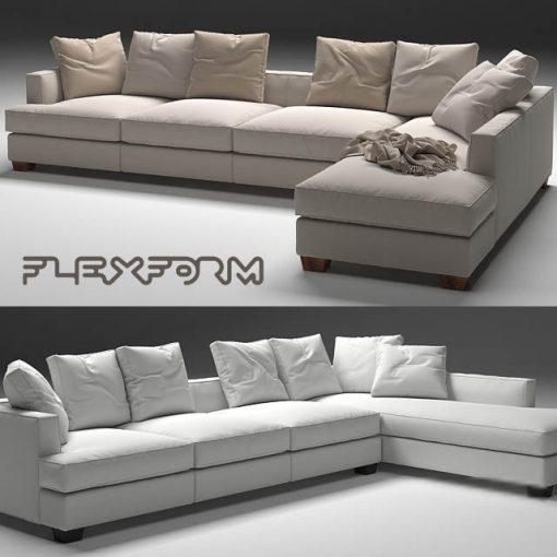 Flexform Eros Sofa 3D Model