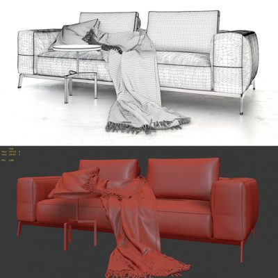 Flexform Ettore Sofa 3D Model 3